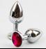 תמונה של באט פלאג יהלום במראה יוקרתי עשוי מתכת עם אבן תכשיט אבן דמוי יהלום בבסיסו M Size